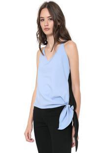 Regata Calvin Klein Jeans Assimétrica Azul/Preta