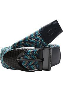 Cinto Oakley Stretch Braided Azul