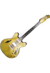Painel Decorativo Metal Unika Guitarra Thinline Colorido