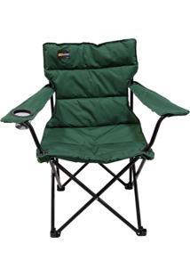 Cadeira Dobrável Boni Com Porta Copo Verde - Nautika