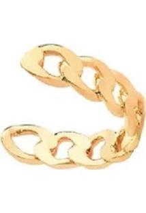 Brinco Piercing Mini Elos Dourados Banhado A Ouro 18K - Kanui