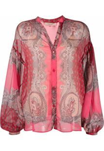 Twinset Blusa Com Bordado Paisley - Vermelho