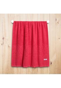 Toalha Banho Macramê Vermelho Picante - 75Cm X 1,40M Vermelho
