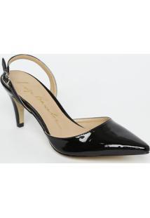 Sapato Chanel Com Fivela - Preto - Salto: 8Cmluiza Barcelos