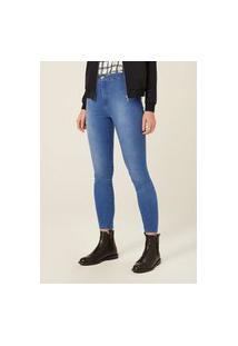 Calça Jeans Super Skinny Com Cintura Alta - Azul