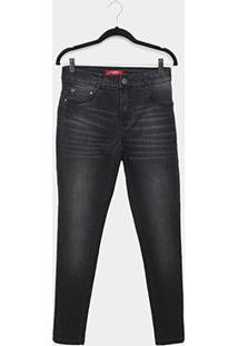Calça Jeans Biotipo Alice Plus Size Skinny Feminina - Feminino-Preto