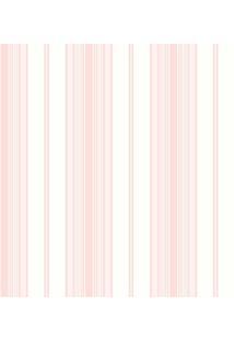 Papel De Parede Coleção Bambinos Rosa Branco Listras 3360 Bobinex