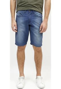 Bermuda Jeans Estonada - Azul Escuroaramis