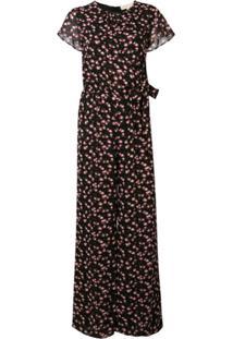 Michael Michael Kors Floral Print Jumpsuit - Preto
