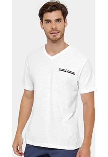 Camiseta Blue Bay Flamê Gola V Masculina - Masculino