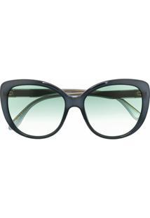 Gucci Eyewear Óculos De Sol Gatinho Degradê - Azul