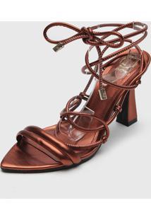 Sandália Dumond Amarração Bronze