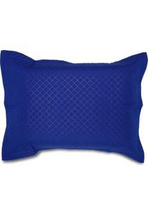 Porta Travesseiro 50X70Cm Matelado Solecasa Azul Marinho