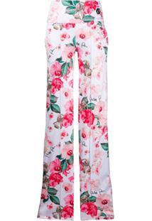 Philipp Plein Calça Com Estampa Floral - Branco