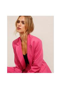 Blazer Alfaiataria Alongado Pink
