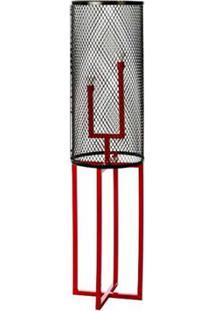Luminaria De Chao Tube Estrutura Em Tubo De Ferro Cor Vermelho 1,29 Mt (Alt) - 53605 - Sun House