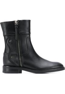 See By Chloé Side Zip Ankle Boots - Preto