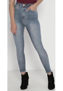 Jeans Super High Skinny- Azul- John Johnjohn John
