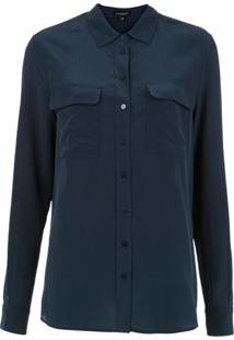 539575ce90 Farfetch. Camisa Azul Feminina Le Lis Blanc Seda ...