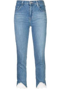J Brand Calça Jeans Com Acabamento De Renda - Azul