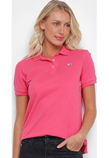 Camisa Polo Tommy Jeans Lisa Feminina - Feminino-Rosa