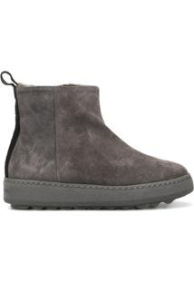 Philippe Model Paris Ankle Boot Bico Arredondado - Cinza