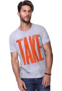 Camiseta King&Joe Cinza Take