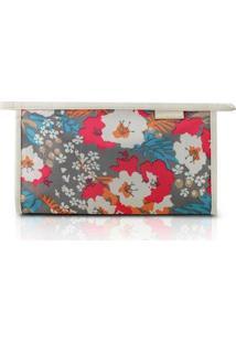 Necessaire Envelope Jacki Design Nylon - Feminino-Cinza