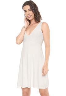 Vestido Malwee Curto Renda Off-White