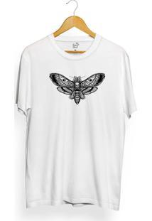 Camiseta Long Beach Butterfly Skull - Masculino-Branco
