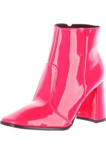 Bota De Salto Damannu Shoes Laila Verniz Pink Neon