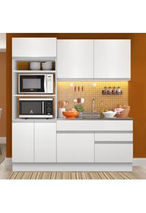 Cozinha Compacta 6 Portas Glamy Lívia Branco - Madesa