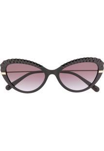 Dolce & Gabbana Eyewear Óculos De Sol Gatinho Dg6133 - Preto