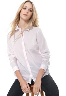 Camisa Lacoste Logo Rosa
