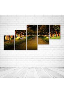 Quadro Decorativo - Beautiful Nature - Composto De 5 Quadros - Multicolorido - Dafiti