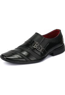 Sapato Social Rebento Envernizado Preto