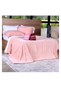 Cobertor Slim Peles King Com Porta Travesseiro Açucena - Tessi.