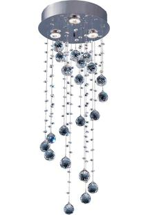 Plafon Llum Crystal Spiral 75Cm Gu10 Bivolt Transparente