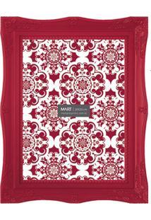 Porta Retrato Decorando Com Classe Retrô 20X25Cm Vermelho