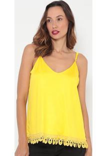 Blusa Com Passamanarias - Amarela- Lança Perfumelança Perfume