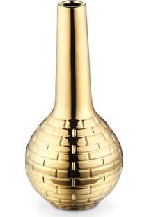 Vaso Bencafil Tijolo 13X13X28,5Cm Dourado. - Dourado - Dafiti