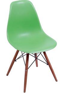 Cadeira Com Base Escura Eames 1102-Or Design - Verde Claro