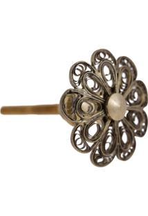 Puxador- Pashmina- Puxador Porta Metal- Dourado - Kanui