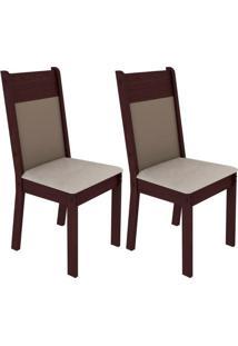 Kit 2 Cadeiras Tabaco E Pérola Madesa4280
