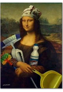 Quadro Decorativo Engraã§Ado Monalisa Dia De Limpeza - Unico - Dafiti