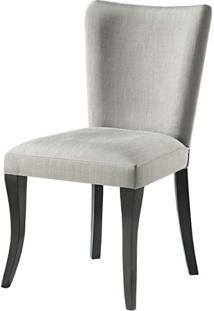 Cadeira Nazare Estofada Branca Pe Laca Preto Brilho - 37389 Sun House