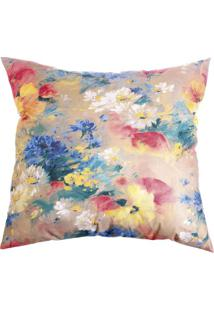 Capa De Almofada Floral- Bege Escuro & Amarela- 42X4Stm Home