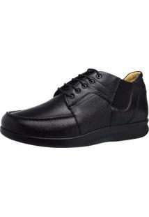 Sapato Masculino Neuroma De Morton Doctor Shoes 3060 Preto