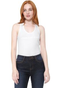 f7b0e99ac7199a Regata Calvin Klein Jeans Logo Branca
