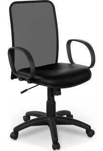 Cadeira Diretor Tela Master Preta Braço
